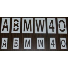 Set șabloane 26 litere cu înălțimea H=100mm